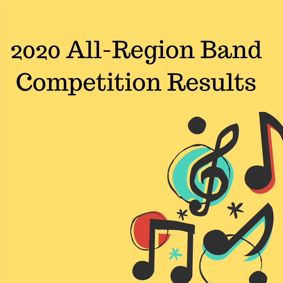 2020 All-Region Band Competition Results Announced