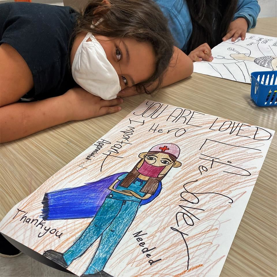 TLE Art Students Show Appreciation for Healthcare Workers